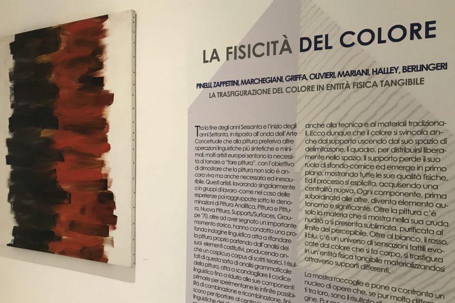 LA FISICITA' DEL COLORE  </br> P. Pinelli, G. Zappettini, E. Marchegiani, G. Griffa, C. Olivieri, U. Mariani, P. Halley, C. Berlingeri